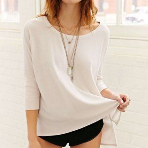 Chaser Ribbed Knit High/Low Boxy Top
